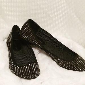 Steve Madden Black Tazorr ballet shoes sz 7.5M